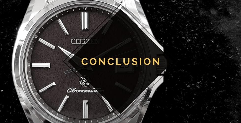 Citizen watches review - conclusion