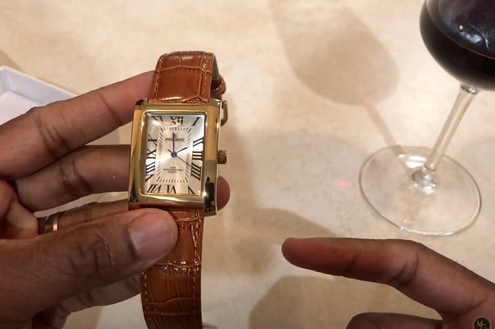 Vintage Peugeot watches include the Cartier Tank homage