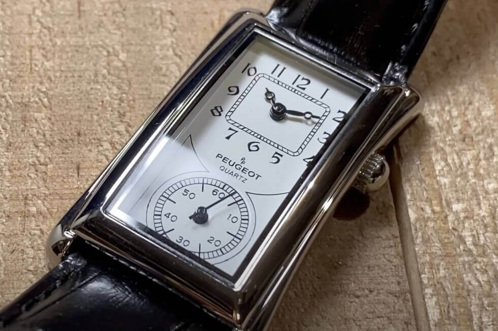Peugeot vintage watch collection includes Cartier Tank Solo homages