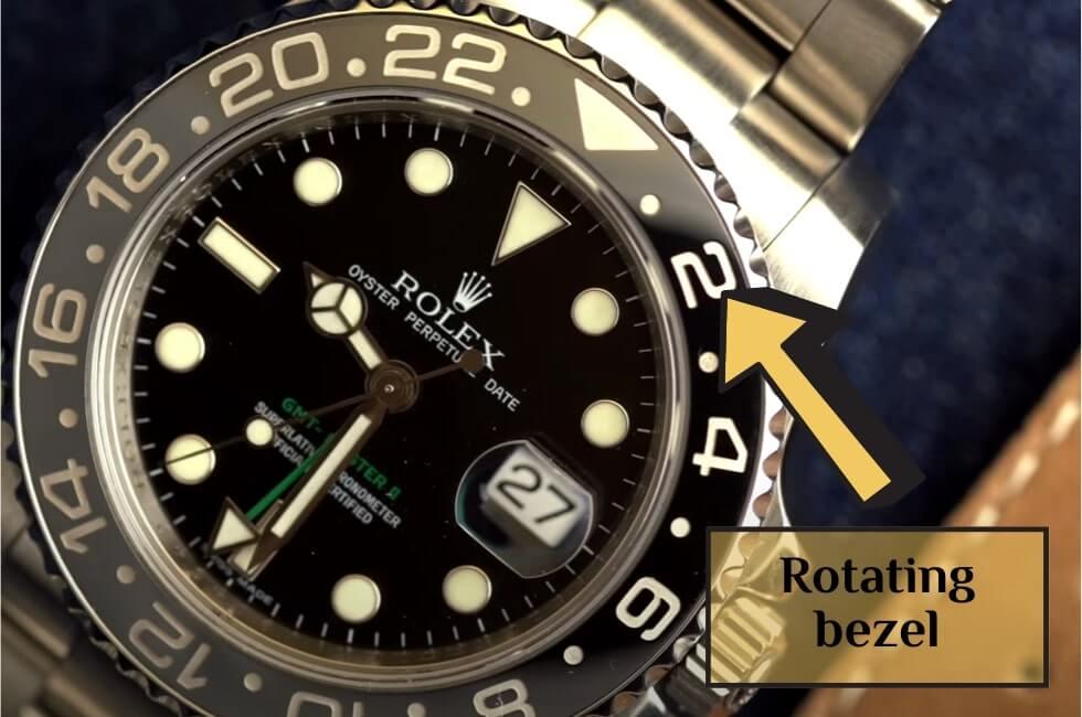 Rotating bezel is an integral part of GMT watch movement